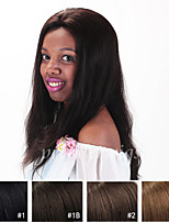 cheap -Human Hair Full Lace Lace Front Wig Straight 130% Density 100% Hand Tied African American Wig Natural Hairline Medium Long Women's Human