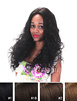 cheap -Human Hair Lace Front Wig Curly 130% Density 100% Hand Tied African American Wig Natural Hairline Short Medium Long Women's Human Hair