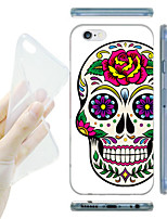 Para Capinha iPhone 6 Capinha iPhone 6 Plus Case Tampa Estampada Capa Traseira Capinha Caveira Macia TPU paraiPhone 6s Plus iPhone 6 Plus