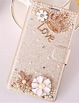 Pour Samsung Galaxy Coque Porte Carte Strass Avec Support Clapet Coque Coque Intégrale Coque Dessin Animé 3D Cuir PU pour SamsungWin