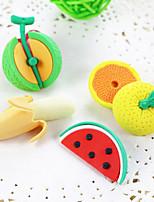 Недорогие -мультфильм фрукты банан арбуз дий резиновый ластик школьник дети призы подарок