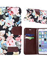cheap -For Apple iphone7 iphone7 Plus iphone6s iphone6s Plus iphone6 iphone6 Plus The Flower Pattern PU Leather Case for iphone SE 5c 5s 5 iphone 4s 4