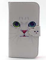 For Samsung Galaxy Case Card Holder / Wallet / with Stand / Flip Case Full Body Case Cat PU Leather Samsung S5 / S4 Mini / S3