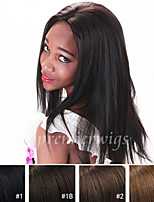 cheap -Human Hair Lace Front Wig Straight 100% Hand Tied African American Wig Natural Hairline Short Medium Long 130% Density Women's