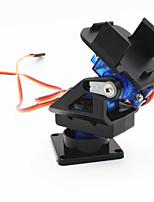 2 axes tête caméra fpv berceau w / 9g double servo / boîtier de direction pour les robots / r / c voiture - noir + bleu