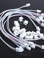 double ligne 2.54-2p xh-2p avec le chef de fil de longues + 30cm (10pcs) transposon