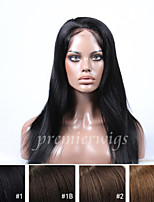 cheap -Human Hair Full Lace Wig Straight 100% Hand Tied African American Wig Natural Hairline Short Medium Long 130% Density Women's