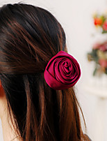 Elegant Brooches Large Headdress Rose Flower(Red/Green/Coffee/Nude)