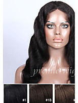 cheap -Human Hair Lace Front Wig Body Wave 100% Hand Tied African American Wig Natural Hairline Medium Long 130% Density Women's