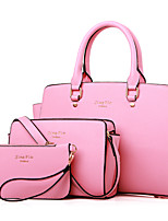 Women Bags PU Bag Set Zipper for Event/Party All Seasons Blue Black Blushing Pink Purple Fuchsia