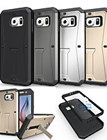 cheap -For Samsung Galaxy Case Shockproof / with Stand Case Back Cover Case Armor PC Samsung S6
