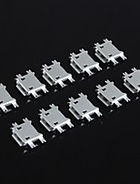 micro usb femelle 5p / 1,27 plaque shen / 5 broches 4 broches SMD / samsung / lnterface mobile Android (10pcs)