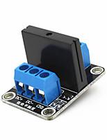 1-ch 5v 240v 2a SSR à l'état solide module de déclenchement relais de haut niveau - noir + bleu