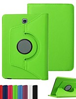 cheap -For Samsung Galaxy Case with Stand / Flip Case Full Body Case Solid Color PU Leather Samsung Tab S2 9.7 / Tab S2 8.0 / Tab E 9.6