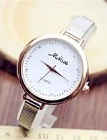 Недорогие -Жен. Модные часы Кварцевый Металл Серебристый металл Аналоговый Блестящие - Серебряный / Нержавеющая сталь