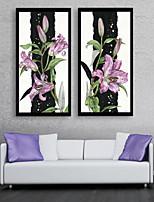 economico -Botanica Floreale/Botanical Tempo libero Tele con cornice Set con cornice Decorazioni da parete,PVC Materiale con cornice For Decorazioni