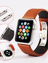 preiswerte -Uhrenarmband für Apple Watch Series 3 / 2 / 1 Apple Handschlaufe Schmetterling Schnalle Echtes Leder