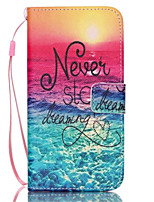 Sunrise Pattern PU Leather Phone Case For Galaxy S3/S4/S5/S6/S6 edge/Galaxy S6 edge Plus/S3 Mini/S4 Mini/S5 Mini