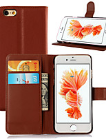 cheap -For iPhone 6 Case / iPhone 6 Plus Case Card Holder / Flip Case Full Body Case Solid Color Hard PU LeatheriPhone 6s Plus/6 Plus / iPhone