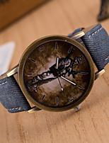 Недорогие -Муж. Жен. Универсальные Модные часы Кварцевый Стеганная ПУ кожа Аналоговый Зеленый Синий Розовый / Нержавеющая сталь