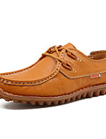 Men's Shoes Leatherette Spring Summer Comfort Loafers & Slip-Ons Walking Shoes for Casual Black Blue Light Brown