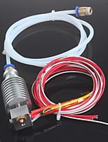 междугородной 3d принтер J-глава hotend для 1.75mm E3D Боуден экструдер 0.4mm сопла с ПТФЭ трубы пандусы 1.4