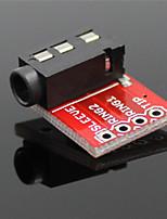 3,5 мм аудио разъем стерео звуковой модуль ж / микрофон для mp3-плеер - красный