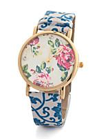 Недорогие -Жен. Модные часы Кварцевый Стеганная ПУ кожа Аналоговый 1 # 2 # 3 # / Нержавеющая сталь