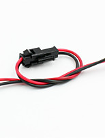 modifiée adaptateur / cavalier femme&câbles mâles pour r / c modèle de voiture / de l'hélicoptère - noir + rouge (5pcs)