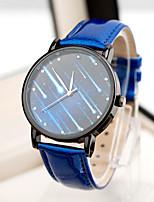 Недорогие -Жен. Модные часы Кварцевый Стеганная ПУ кожа Аналоговый Черный Синий