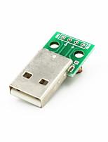 USB Male to Dip 2.54mm 4-Pin Module - Green