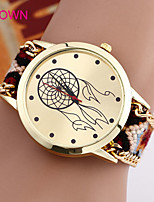 baratos -Mulheres Relógio de Moda Bracele Relógio Quartzo Preta / Azul / Marrom Analógico Marron Azul Rosa claro