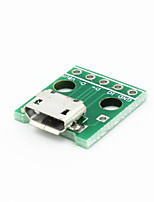 Micro USB à 2,54 dip modules 5 broches - vert