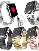 abordables -Ver Banda para Apple Watch Series 3 / 2 / 1 Apple Correa de Muñeca Hebilla de la mariposa Acero Inoxidable