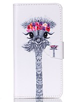 cheap -For Samsung Galaxy Case Wallet / Card Holder / with Stand / Flip Case Full Body Case Animal PU Leather SamsungS6 / S5 Mini / S5 / S4 Mini