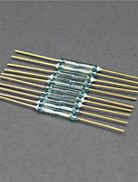 Reed / commutateur magnétique / taille de verre - or + vert (10 pièces / 2 x 14mm)