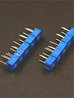 Résistances réglables 10kohm potentiomètre set - bleu (10 pièces)