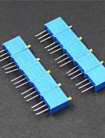3296 потенциометр 3-контактный 10 кОм регулируемые резисторы - синий (10 шт)
