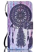 """Недорогие -Для Кейс для  Samsung Galaxy Кошелек / Бумажник для карт / со стендом / Флип Кейс для Чехол Кейс для Рисунок """"Ловец снов""""Искусственная"""
