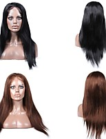 cheap -Human Hair Full Lace Lace Front Wig Straight 130% Density 100% Hand Tied African American Wig Natural Hairline Short Medium Long Women's