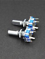 encodeur rotatif commutateur dode / CE11 / audio potentiomètre numérique - vert + argent (2 pcs)