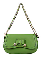 cheap -Women Bags Cowhide Shoulder Bag Bow(s) Buttons for Casual Office & Career All Season Orange Green