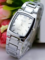 L.WEST Men's Steel Belt Analog Square Quartz Watch Wrist Watch Cool Watch Unique Watch Fashion Watch