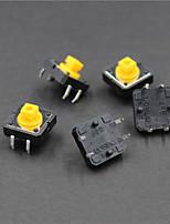 12 x 12 x 7.3mm interrupteurs à bouton - noir + jaune (5 pièces)