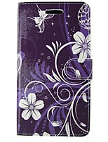 cheap -Case For Apple iPhone 5 Case Card Holder Wallet with Stand Flip Full Body Cases Flower Lace Printing Hard PU Leather for iPhone SE/5s
