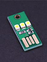 Lampe de camping de lumière blanche 20lm 0.2W mini-wy003 USB 3-conduit