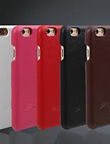Недорогие -Кейс для Назначение iPhone 6s iPhone 6 Apple iPhone 6 Other Кейс на заднюю панель Сплошной цвет Твердый Настоящая кожа для iPhone 6s