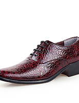 Men's Shoes Synthetic Microfiber PU Spring Fall Formal Shoes Oxfords Lace-up For Office & Career Party & Evening Burgundy Blue Black White