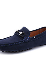 cheap -Men's Unisex Shoes Nappa Leather Spring Fall Moccasin Comfort Loafers & Slip-Ons for Casual Party & Evening Dark Blue