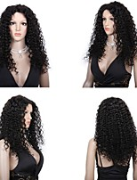 cheap -Human Hair Full Lace Lace Front Wig Curly 130% Density 100% Hand Tied African American Wig Natural Hairline Short Medium Long Women's